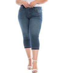 slink jeans frayed crop capri jeans, size 22w in jessie at nordstrom