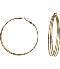 """style & co gold-tone large triple-row hoop earrings, 2.25"""", created for macy's"""