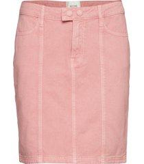 jenny mw denim skirt kort kjol rosa second female