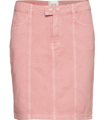 jenny mw denim skirt kort kjol rosa second female