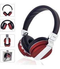 audífonos bluetooth, shuua fe-018 plegables auricular - rojo