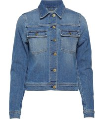 suzy washed denim jacket jeansjack denimjack blauw filippa k
