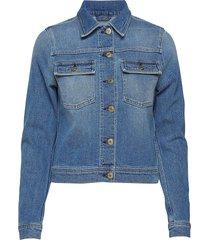 suzy washed denim jacket jeansjack denimjack blauw filippa k