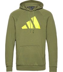 m fi hood hoodie trui groen adidas performance