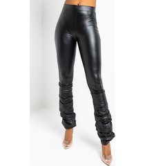 akira life in the stacked lane pull on pu stacked leggings