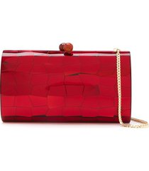 serpui mosaic mirrored clutch