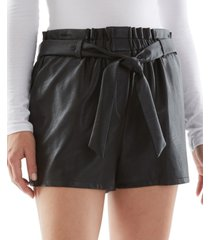 bcx juniors' belted faux-leather shorts