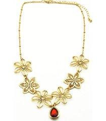 collar floral dorado i-d