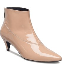 sheba patent boots ze1 18 shoes boots ankle boots ankle boot - heel beige gestuz