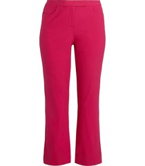 theory women's cropped pants - magenta - size 6