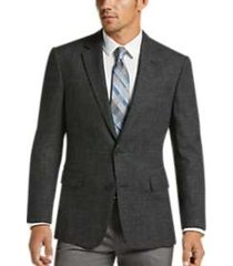 awearness kenneth cole black & white tic modern fit sport coat