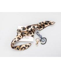 violet & brooks cali satin scarf, leopard
