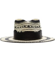 nick fouquet vagues straw fedora hat - neutrals