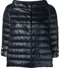 herno wide boat neck jacket - black