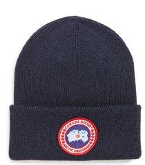 canada goose arctic disc merino wool toque beanie - blue