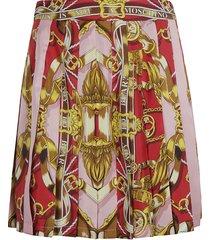 moschino pleated printed short skirt