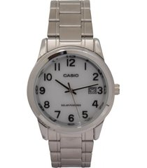 reloj  casio modelo mtpvs01d7b2 plateado