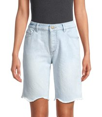 dl1961 women's clara frayed bermuda denim shorts - kingsland - size 27 (4)