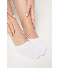 calzedonia unisex cotton invisible socks woman white size 31-33