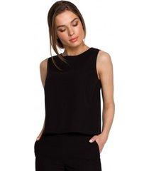 blouse style s257 mouwloze blouse - groen