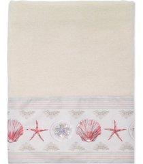avanti coronado cotton graphic-print beaded bath towel bedding