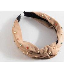 simaya multi colored stone headband - natural