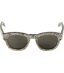 49mm glitter square sunglasses