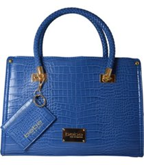 bella croco satchel with card case