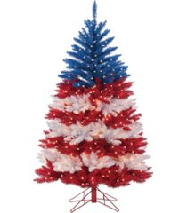 sterling 5ft. patriotic american tree in red, white and blue with 495 clear lights and 5 twinkle lights on top section