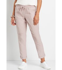 maurices womens lilac weekender pants purple