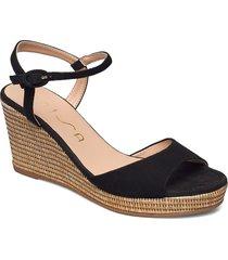 lagata_ks sandalette med klack espadrilles svart unisa