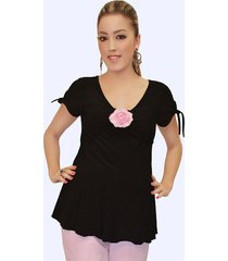 flirty dressy sexy maternity pink capri pants or black top & pink flower usa