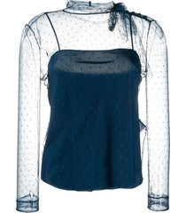 point d'esprit tulle top