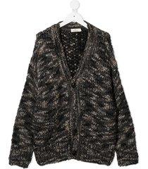 andorine chunky knit cardigan - grey