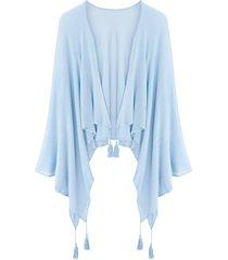 poncho in maglia leggera (blu) - bpc bonprix collection