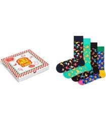 happy socks women's junk food gift box, pack of 4