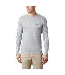 camiseta columbia zero rules manga longa - cinza
