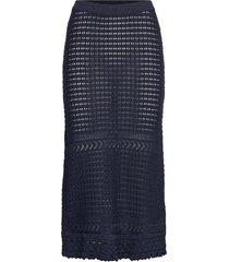 illuminating frill skirt knälång kjol blå odd molly