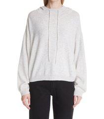 loulou studio cashmere hoodie, size medium in light grey melange at nordstrom