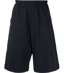 jil sander drop-crotch knee-length shorts - blue