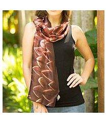 silk scarf, 'cocoa mystique' (thailand)