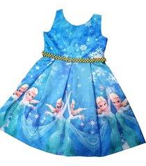 vestido frozen elsa patatitas i1035 azul