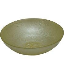 saladeira dunya de vidro bege 18cm firenze amarelo