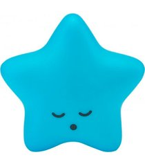 abajur decorfun luminaria bebê infantil estrela azul com fio e adesivo