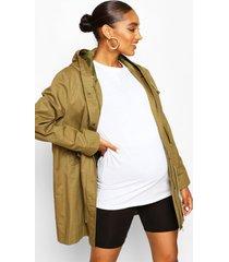 zwangerschap parka jas, kaki