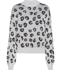 anf womens sweaters stickad tröja grå abercrombie & fitch