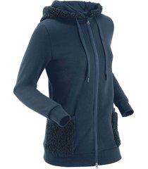 giacca con pellicciotto di pile (blu) - bpc bonprix collection