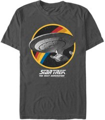 star trek men's the next generation retro u.s.s. enterprise ncc-1701-d short sleeve t-shirt