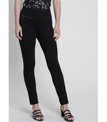 calça legging feminina com zíper preta