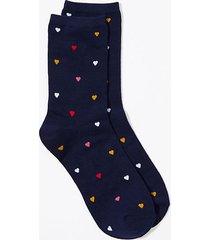loft heart crew socks
